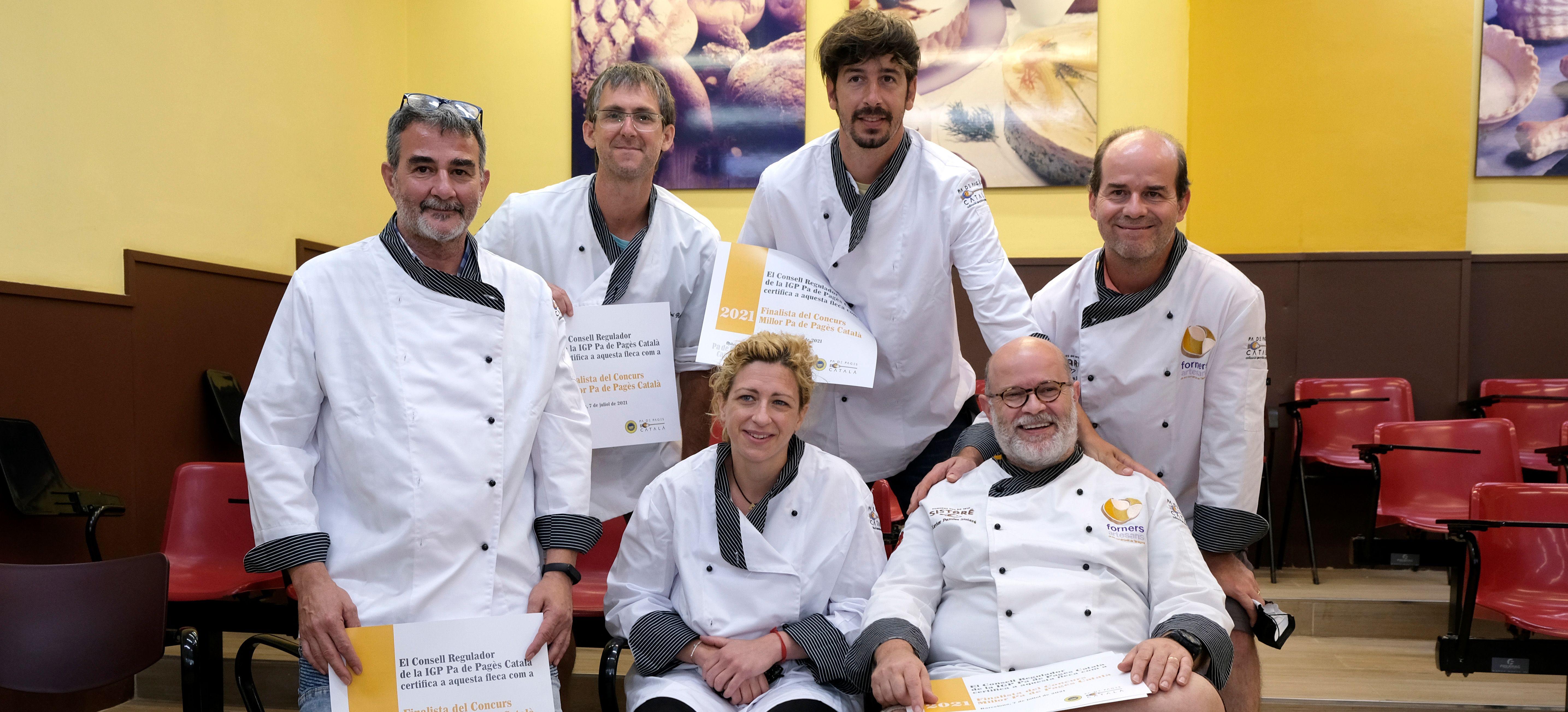 Los cinco finalistas del Concurso Millor Pa de Pagès Català 2021
